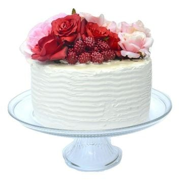 Roses and Raspberries Fake Cake