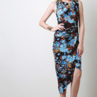 Women's Floral Knotted Sleeveless Dress