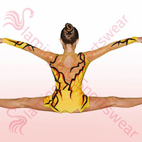 Gymnastics - Ice Skating Leotard - Yellow - Black