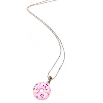I love Donuts Pendant Necklace