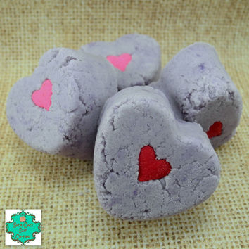 Valentine Bath Truffles - Bath Bomb Set of 4 Desire Scented - Valentine's Day Gifts, Bubble Bath, Bath Bomb, Bath Melt, All In One, Bath Set