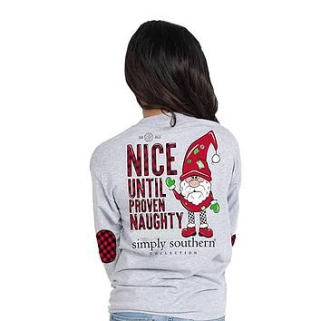 Nice Until Proven Naughty - Elf - F19 - SS - Adult Long Sleeve