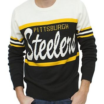 NFL Pittsburgh Steelers Unisex Throwback Intarsia Sweater - Men's Sale - All - Junk Food Clothing