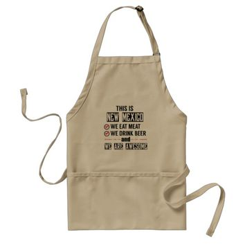 New Mexico Eat Meat Drink Beer Awesome Adult Apron