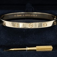 Cartier Love Bracelet - 18 Yellow Gold - Size 18 - Ref: B6035517