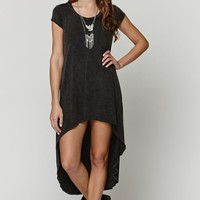 LA Hearts Extreme Hi Low Tunic Top - Womens Tee - Black