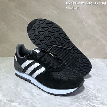 KUYOU A434 Adidas NEO 8K Suede Mesh Fashion Casual Running Shoes Black White