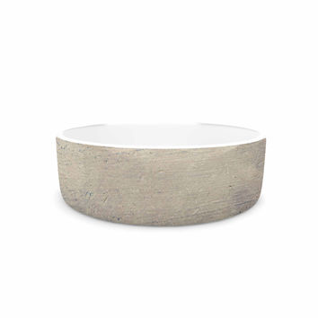 """Sylvia Cook """"Starfish And Shell"""" Beige Yellow Pet Bowl"""