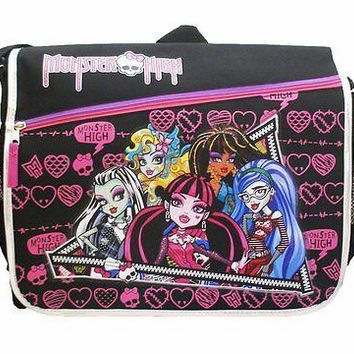 Monster High Black Messenger Bag