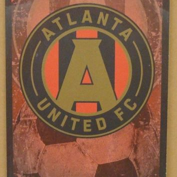 "ATLANTA UNITED FC GAME TICKET ADMIT ONE WOOD SIGN 6""X12'' BRAND NEW WINCRAFT"