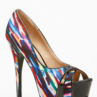 Liliana Cross Front Peep Toe Pumps