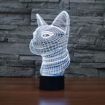 Color Changing Exotic Cat Lamp