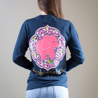 Simply Southern Long Sleeve Elephant Shirt - Navy