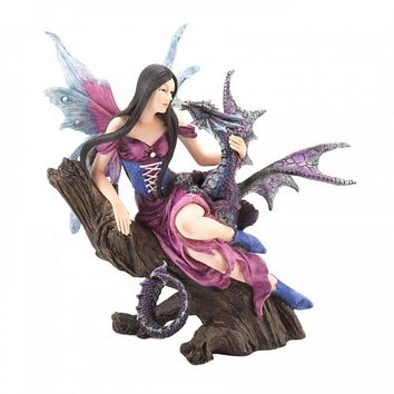Fairy And Dragon Figurine
