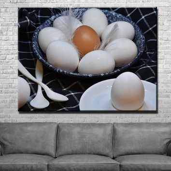 Eggs Kitchen and Dining Room Wall Decor Canvas Set