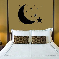 Wall Sticker Vinyl Decal Design for Bedrooms Moon Stars Sky ig1211