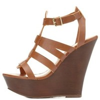 Gladiator Platform Wedge Sandals by Charlotte Russe