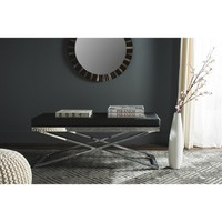Safavieh Modern Glam Acra Black/ Silver Bench | Overstock.com Shopping - The Best Deals on Benches