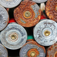 Shotgun Shell Art, Wall Decor, Rusted Bullets, Man Art, Southern Country Redneck