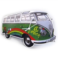 VW Bus Wall Clock - Peace