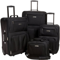 4Pc Black Luggage Set