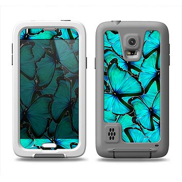The Turquoise Butterfly Bundle Samsung Galaxy S5 LifeProof Fre Case Skin Set
