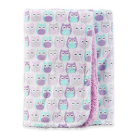 carter's® Owl Sherpa-Lined Fleece Blanket in Purple