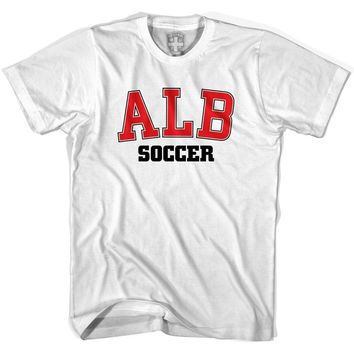 Albania ALB Soccer Country Code T-shirt-Adult