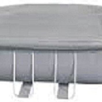 By PoolCentral 19.5' Durable Apertured Oval Shaped Gray Pool Cover with Rope Ties