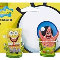 Spongebob/Patrick 2Pc Ornament Combo Pack
