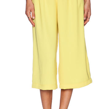 Backstage 3/4 Coco Pant in Lemon