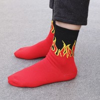 Fire Thrasher Skateboard Socks [11529800972]