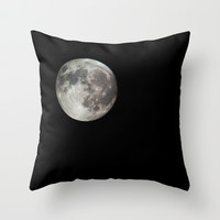 Moon Throw Pillow by Matt Bokan