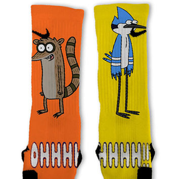 Regular Show Custom Nike Elite Socks