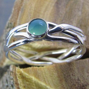 Argentium Sterling Silver Stacking Ring B by DogSkinStudio on Etsy