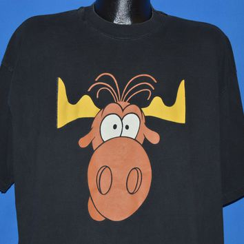 90s Rocky Bullwinkle Taco Bell t-shirt Extra Large