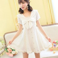 Sweet Princess Lace Short Sleeved Dress SD00424