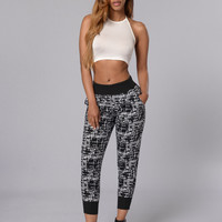 Lost in Conversation Pants - Black/White