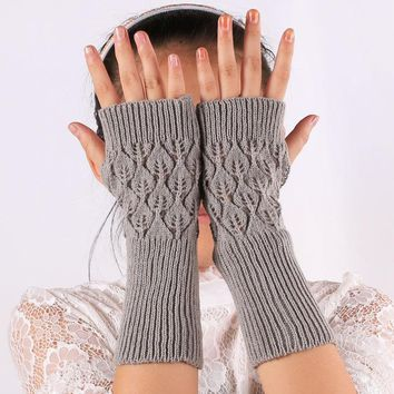 Gloves Hollow Out Korean Leaf Pc Sleeves [47782068231]