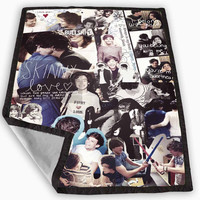 Larry Harry Styles and Louis Tomlinson Blanket for Kids Blanket, Fleece Blanket Cute and Awesome Blanket for your bedding, Blanket fleece *