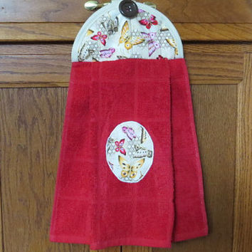 Hanging Kitchen Towel Hanging Hand Towel Hanging Tea Towel Hanging Dish Towel Tie Towel