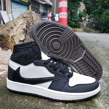 Air Jordan 1 High OG TS SP White/Black/Navy