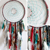 Hippie Christmas Native Woven Dreamcatcher