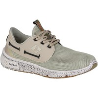 Men's 7 Seas Camo Boat Shoe in White by Sperry