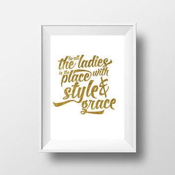 Notorious B.I.G. Big Poppa Inspired Gold Foil Picture