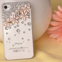 Skin Flowers Crystal Iphone 4/4sCas.. on Luulla
