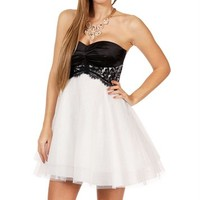 Adabelle-Black/White Prom Dress
