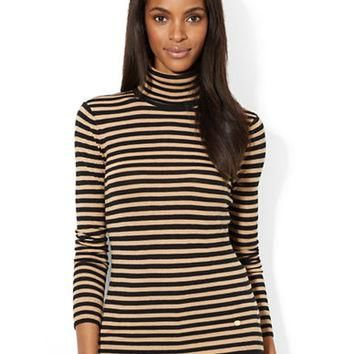 Lauren Ralph Lauren Striped Turtleneck Sweater