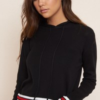 Sporty Hoodie With Stripes