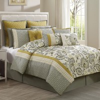 Savannah 12-pc. Comforter Set (Grey)